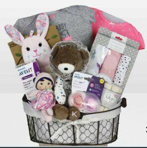 Cute Baby Shower Gift Basket Ideas-Baby Girl Kaloo Bear