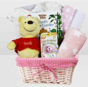 Cute Baby Shower Gift Basket Ideas-Baby Girl Winnie The Pooh
