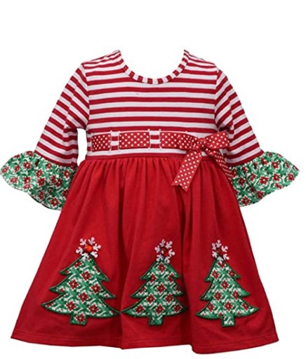 Christmas Dresses For Girls-Bonnie Jean Girl's Holiday Christmas Dress for Baby, Toddler and Little Girls