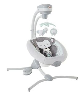 Best Christmas Toys For 2020-Fisher-Price Sweet Surroundings Monkey Cradle 'n Swing