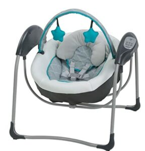 Best Christmas Toys For 2020-Graco Glider Lite Baby Swing, Finch