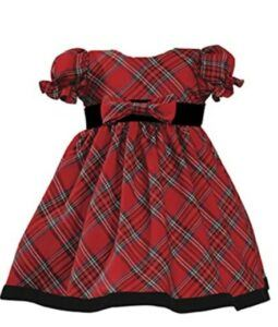 Christmas Dresses For Girls-Lito Girls Holiday Christmas Year's Plaid Dress