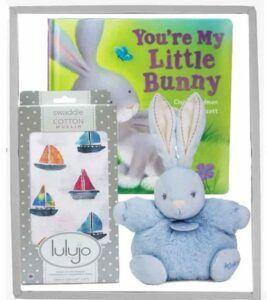 Cute Baby Shower Gift Basket Ideas-Little Bunny Gift