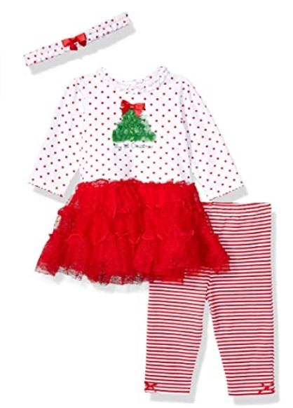 Christmas Dresses For Girls-Little Me Baby Girl's Holiday Cotton Dress