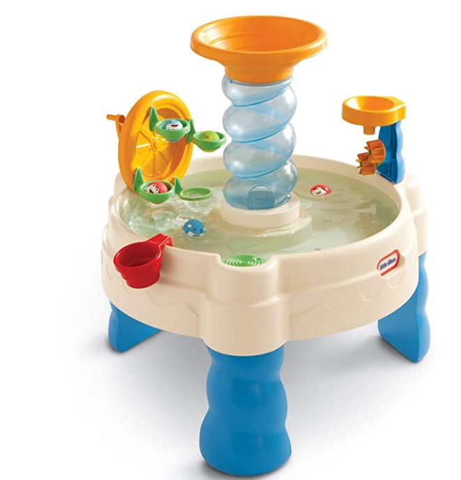Best Christmas Toys For 2020-Little Tikes Spiralin' Seas Waterpark Play Table, Multicolor