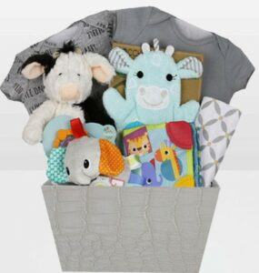 Cute Baby Shower Gift Basket Ideas-Neutral Bundle of Joy