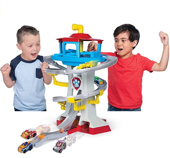 Best Christmas Toys For 2020-Paw Patrol, True Metal Adventure Bay Rescue Way Playset with 2 Exclusive Vehicles