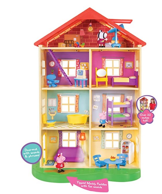 Best Christmas Toys For 2020-Peppa Pig's Lights & Sounds Family Home Feature Playset