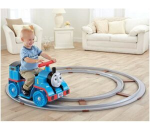 Best Christmas Toys For 2020-Power Wheels 6V Battery Powered Thomas & Friends Thomas Train with Track