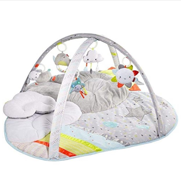 Best Christmas Toys For 2020-Skip Hop Silver Lining Cloud Baby Play Mat and Infant Activity Gym