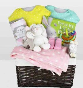 Cute Baby Shower Gift Basket Ideas-my little bunny