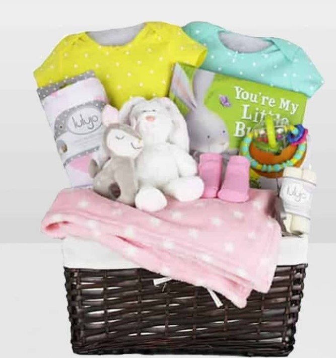 Cute Baby Shower Gift Basket Ideas-my little bunny