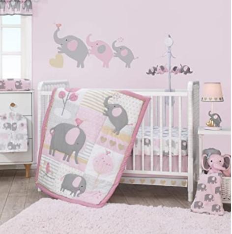 Black Friday Deals 2020 For-Bedtime Originals Eloise 3-Piece Crib Bedding Set, Pink