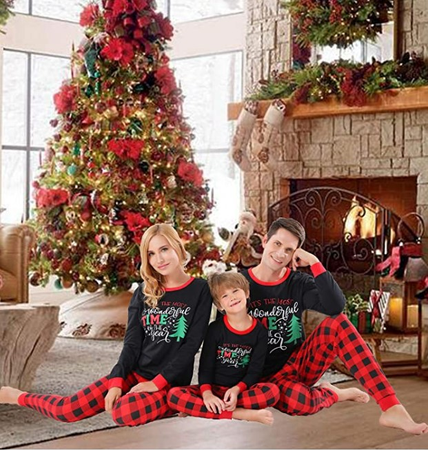 Family Matching Christmas Pajamas For-Christmas Family Matching Pajamas Set Santa's Deer Sleepwear for The Family Boys and Girls