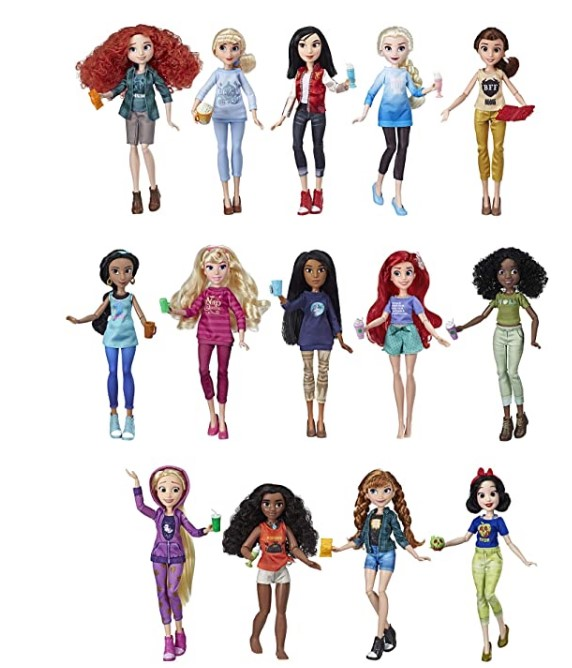 Christmas Gifts For 3-Year-Old Girl-Disney Princess Ralph Breaks The Internet Movie Dolls with Comfy Clothes & Accessories, 14 Doll Ultimate Multipack (Amazon Exclusive)
