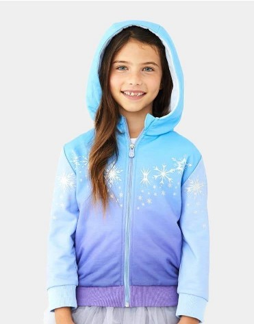Christmas Gifts For 3-Year-Old Girl-Elsa Zip Up Hoodie