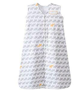Best Sleep Sacks of -Halo Sleepsack Cotton Wearable Blanket, Grey Elephant Graphics, Large