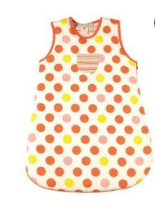 Best Sleep Sacks of-Ideo Coral Big Dots Organic Cotton Sleep Sack 3-12m