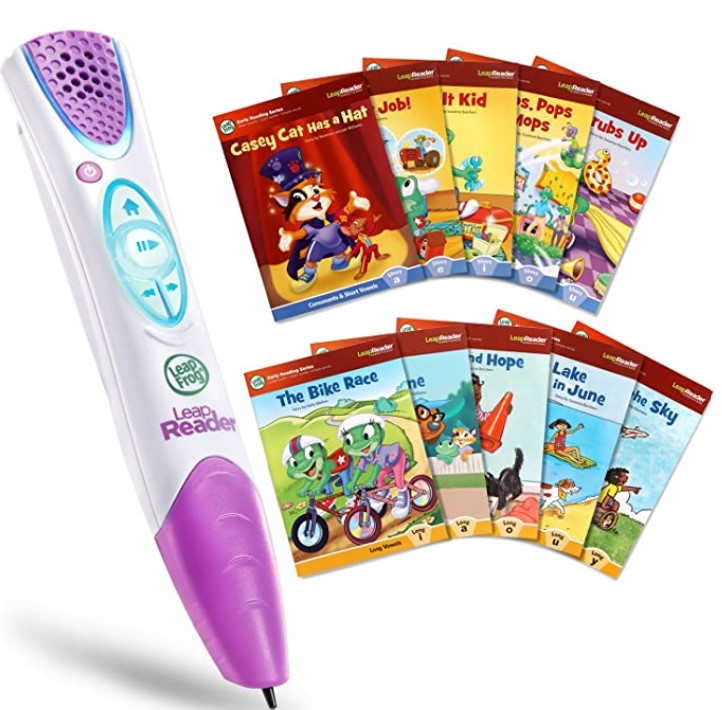 Christmas Gifts For 3-Year-Old Girl-LeapFrog LeapReader System Learn-to-Read 10 Book Mega Pack, Pink