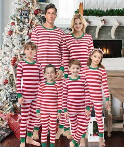 Family Matching Christmas Pajamas For-Matching Family Christmas Boys Girls Pajamas Striped Kids Sleepwear Children Clothes