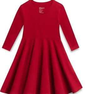 Christmas Gifts For 3-Year-Old Girl-Mightly Girls' Organic Cotton Skater Dress
