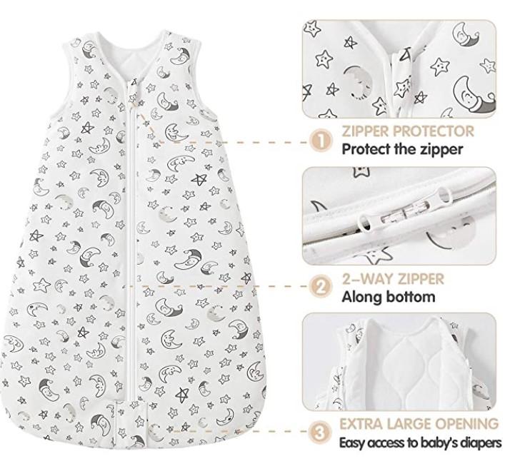 Best Sleep Sacks of--Mosebears Sleep Sack Baby Winter Wearable Blanket with 2-Way Zipper,2.5 TOG Cotton Sleep Sack Unisex