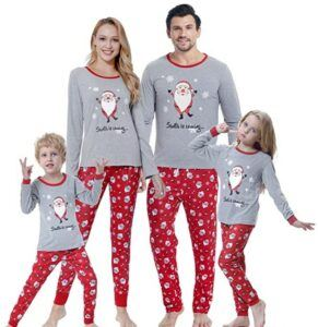 Family Matching Christmas Pajamas For-MyFav Matching Family Christmas Pajamas Set Soft Cotton Clothes Sleepwear