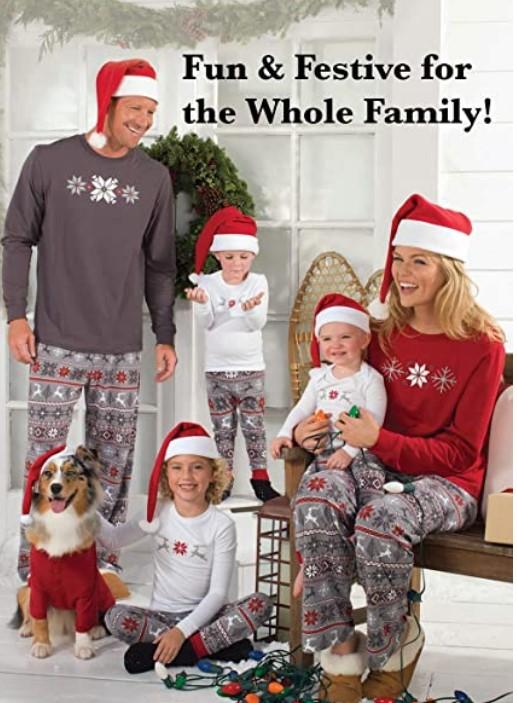 Family Matching Christmas Pajamas For-PajamaGram Family Christmas Pajamas Set - Soft Cotton Family Pajamas, Gray