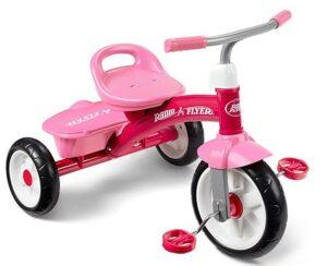 Christmas Gifts For 3-Year-Old Girl-Radio Flyer Pink Rider Trike, outdoor toddler tricycle, ages 3-5 (Amazon Exclusive)