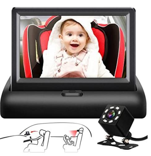 Black Friday Deals 2020 For-Shynerk Baby Car Mirror, 4.3'' HD Night Vision Function Car Mirror Display