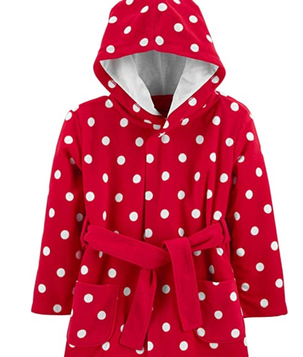 Christmas Gifts For 3-Year-Old Girl-Simple Joys by Carter's Baby and Toddler Girls' Hooded Sleeper Robe