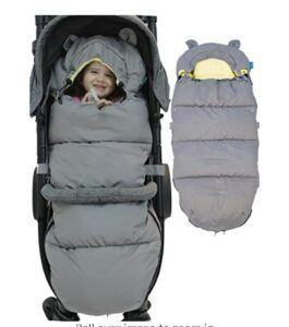 Best Sleep Sacks of -Stroller Trotter - Luxury Stroller footmuff Inner Velvet Layer for Comfort, Stroller Sleeping Bag with Non Skid Adjustable Fixing Elements for Toddler and Baby Bunting