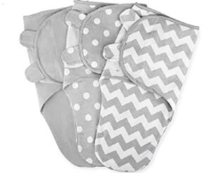 Best Sleep Sacks of-Swaddle-Blanket-Baby-Girl-Boy-Easy-Adjustable-3-Pack-Infant-Sleep-Sack-Wrap-Newborn-Babies-by-Comfy-Cubs-0-3-Months-Old-Grey-Small-Medium-Small-Medium