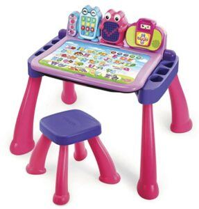Christmas Gifts For 3-Year-Old Girl-VTech Touch and Learn Activity Desk Deluxe, Pink