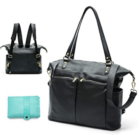 The Best Diaper Bags To Buy in 2021-Diaper Bag Tote Mominside Leather Diaper Bag Backpack for Mom and Dad