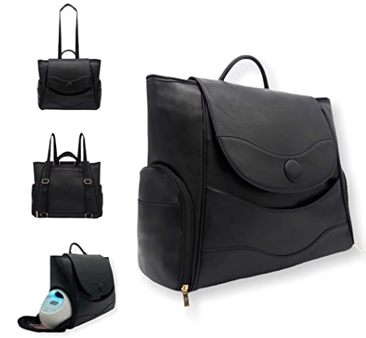 The Best Diaper Bags To Buy in 2021-Kai N Talia Breast Pump Bag, Diaper Bag. Insulated Pockets, Convertible Backpack