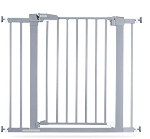 Best Baby Gates For The Stairs-BABELIO Easy Install Extra Wide Pressure Mounted Metal Baby Gate