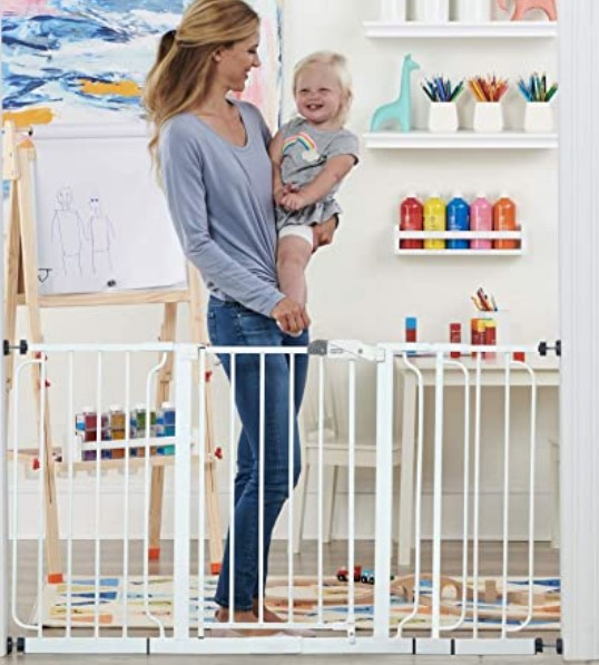 Best Baby Gates For The Stairs-Regalo 56-Inch Extra WideSpan Walk Through Baby Gate