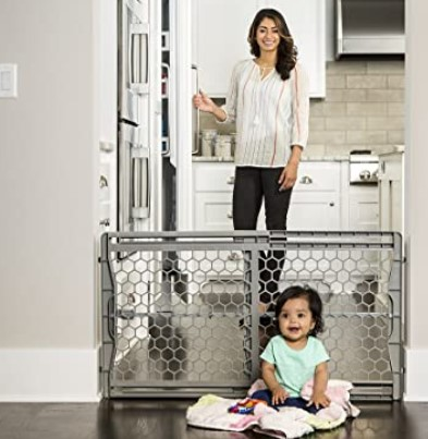 Best Baby Gates For The Stairs-Regalo Easy Fit Plastic Adjustable Extra Wide Baby Gate