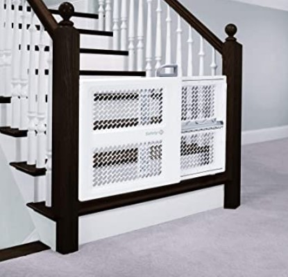 Best Baby Gates For The Stairs-Safety 1st Pressure Mount Lift, Lock and Swing Baby Gate