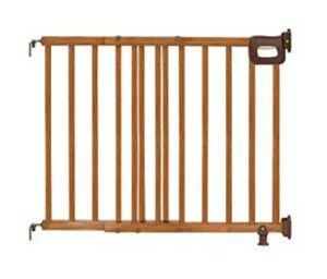Best Baby Gates For The Stairs -Summer Deluxe Stairway Simple to Secure Wood Gate, 30-48 Inch Wide