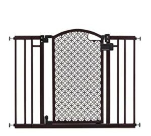 Best Baby Gates For The Stairs -Summer Modern Home Decorative Walk-Thru Baby Gate, Metal with Bronze Finish