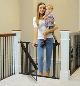 Best Baby Gates For The Stairs-Cumbor 40.6 inches Baby and Dog Gates for Stairs and Doorways