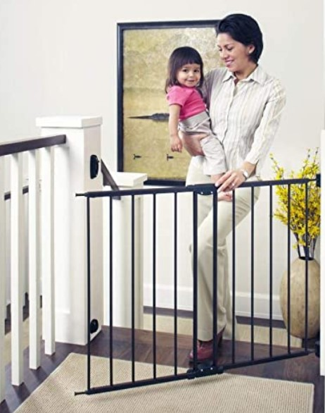 Best Baby Gates For The Stairs-Toddleroo by North States 47.85 inches Wide Easy Swing & Lock Baby Gate