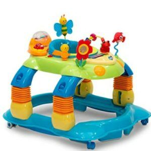 Best Baby Jumpers And Bouncers-Delta Children Lil' Play Station 4-in-1 Activity Walker - Rocker, Activity Center, Bouncer, Walker - Adjustable Seat Height - Fun Toys for Baby, Blue