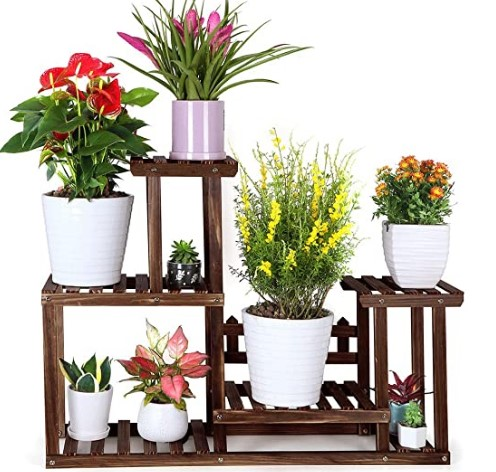Cute Mother Day Gifts-FOLDIFY-Pine-Wood-Plant-Stand-Indoor-Outdoor