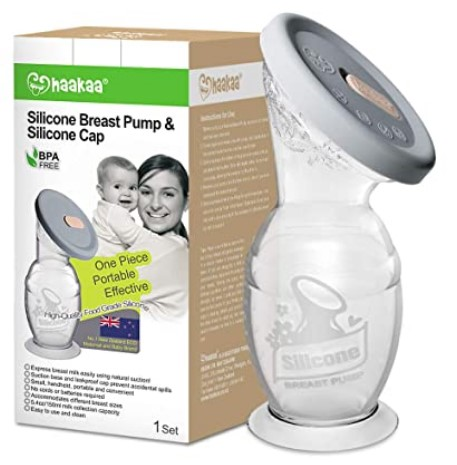 The Best Breast Pumps In 2021-Haakaa Silicone Breast Pump & Silicone Cap 5.4oz(150ml)