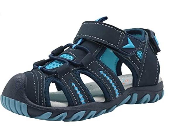 Toddler Beach Shoes In-Apakowa-Kids-Boys-Girls-Soft-Sole-Close-Toe-Sport-Beach-Sandals