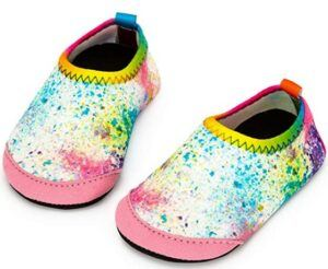 The 20 Best Toddler Beach Shoes To Buy-Apolter-Baby-Boys-and-Girls-Swim-Water-Shoes-Barefoot-Aqua-Socks-Non-Slip-for-Beach-Pool-Toddler-Kids