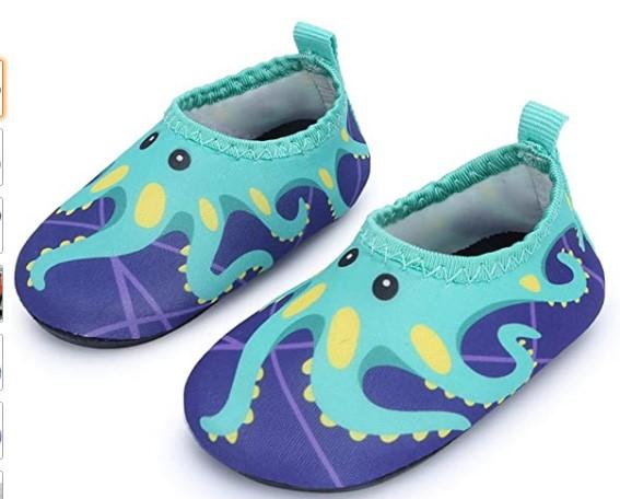 Toddler Beach Shoes In-JIASUQI-Baby-Boys-and-Girls-Barefoot-Swim-Water-Skin-Shoes-Aqua-Socks-for-Beach-Swim-Pool